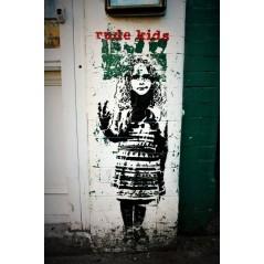 Rude kids stencil