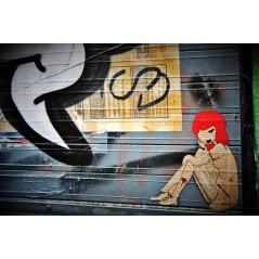 Street art girl