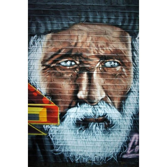 Street art man portrait