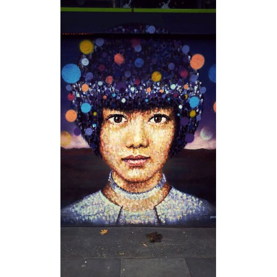 Street art girl portrait