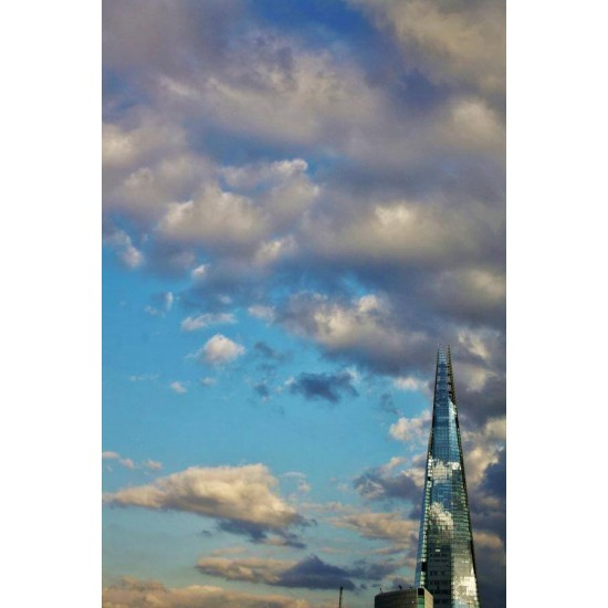 The Shard through clouds